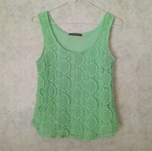 Suzy Shier mint crochet top